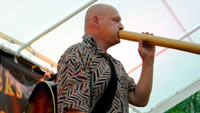 Performing Didgeridoo at Singing Sticks Festival